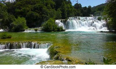 Waterfalls Krka in Dalmatia Croatia
