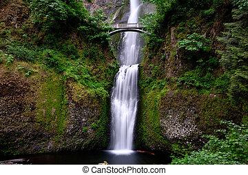 Waterfalls - Multnomah Falls in Oregon.