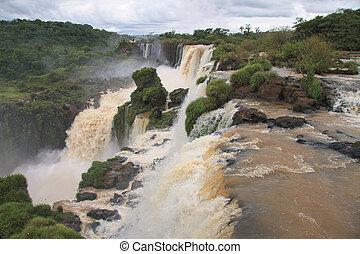 Waterfalls of Iguazu in Argentina