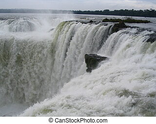 Waterfalls in Misiones, Argentina. Border with brazil.