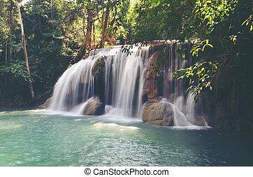 Waterfalls shallow water