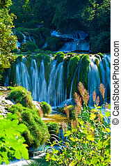 Waterfalls at Krka National Park in Croatia
