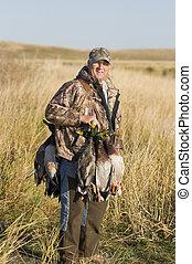 Waterfowl hunting in the fall