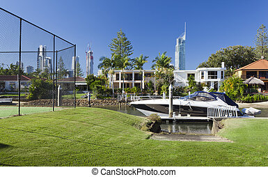 Waterfront backyard
