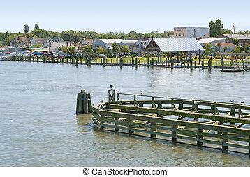 waterfront, chincoteague, virginia