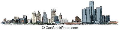 waterfront, detroit