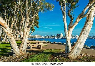 waterfront, diego, parque, san