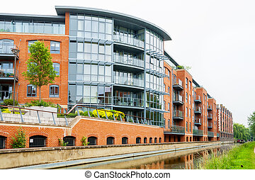 Waterfront house. Oxford, UK