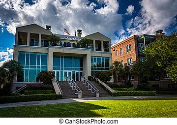 Waterfront housing in Charleston, South Carolina.