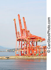 Waterfront Industrial Cranes