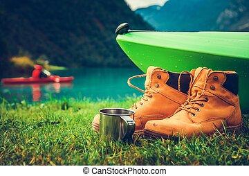 Waterfront Kayak Camping