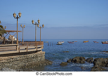 Waterfront of Pisagua, Chile