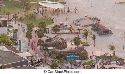 Waterfront overview Jumeirah Beach Residence JBR skyline...