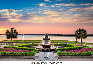 Waterfront Park Charleston - Charleston, South Carolina, USA...