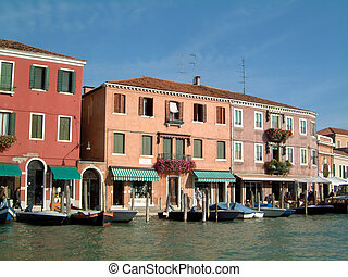 Waterfront shops Murano