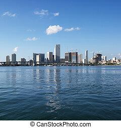 Waterfront skyline, Miami. - Waterfront skyline of Miami,...