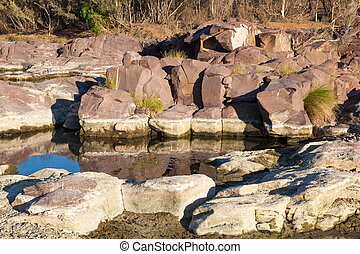 Waterhole and rock pool. Flinders Ranges. South Australia