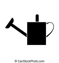 Watering can black color icon .