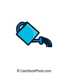 watering can colorful icon vector illustration
