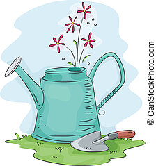 Watering Can - Illustration of a Watering Can