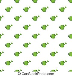 Watering can for garden pattern, cartoon style - Watering...