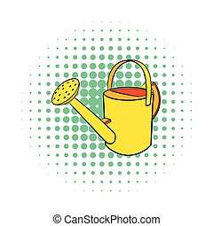 Watering can icon, comics style