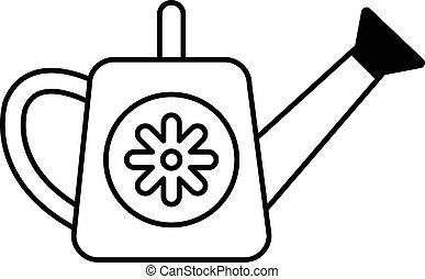 Watering can icon , outline style