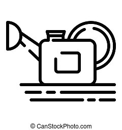 Watering can icon, outline style