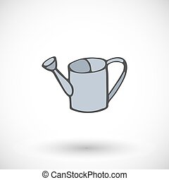 Watering can icon. Vector illustration.