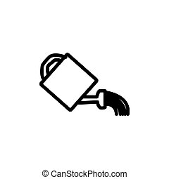 watering can line icon vector illustration