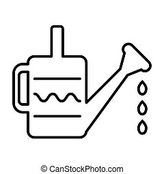 Watering can line icon. vector illustration isolated on white. outline style design, designed for web and app. Eps 10