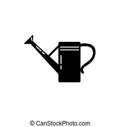 Watering can silhouette icon in flat style