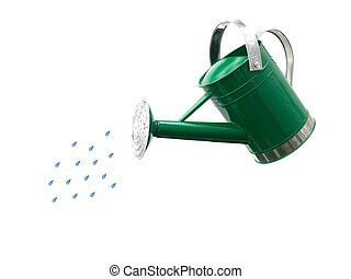 Watering Can - A watering can isolated against a white...