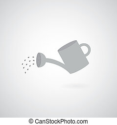 watering can symbol  on gray background