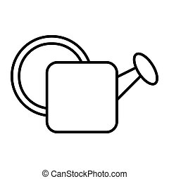 Watering can thin line icon. Garden vector illustration isolated on white. Garden water can outline style design, designed for web and app. Eps 10.