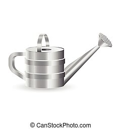 Watering can vector illustration isolated on white background