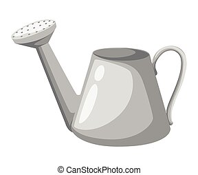 Watering can vector illustration isolated on white