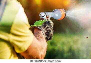 Watering Garden Plants