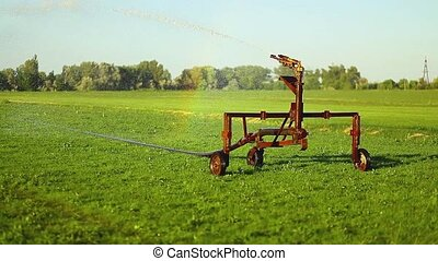 Watering machine in the field