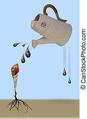 Watering Money.