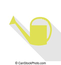 Watering sign. Pear icon with flat style shadow path.
