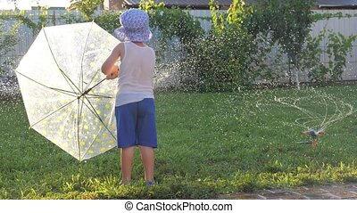 Watering system. Happy childhood. - Automatic outdoor plant...