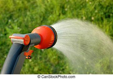 Watering the vegetables
