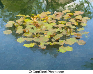 Waterlily oil paint