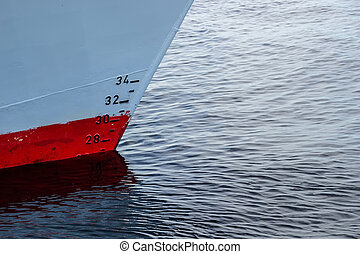 Waterline of the ship