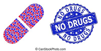 watermark, いいえ, 丸薬, ラウンド, 薬, コラージュ, recursion, アイコン, 苦脳, 薬物