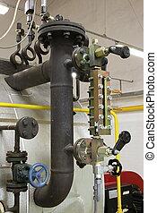 Watermark in the gas boiler