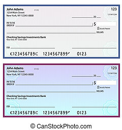 Watermark Security Personal Checks - An image of security...