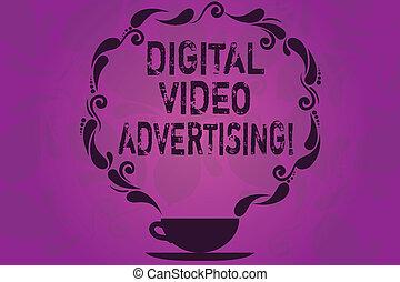 watermarked, engager, formulaire, tasse, photo, projection, numérique, paisley, space., signe, contenu, advertising., audience, vidéo, vide, conceptuel, conception, icône, texte, vapeur, soucoupe