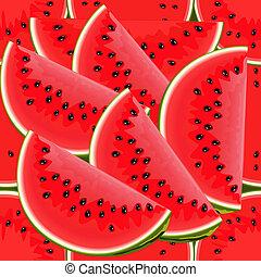 watermeloen, seamless, textuur, sappig